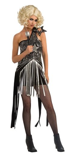 Lady Gaga Star Dress Women's Costume