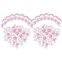 Embellishments Embroidery Design: Lace Floral Border from Gunold