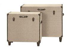 Warren Burlap Trunks - Set of 2 - Decorative Boxes - Home Accents - Home Decor   HomeDecorators.com