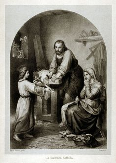 Family is love and imperfect perfection. Family and Faith. The Holy Family - Rafael Flores