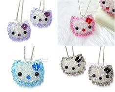 Crystal Necklace; Swarovski Necklace; Glass Necklace; Sweet Kitty Sparkling Swarovski Crystal Pendan