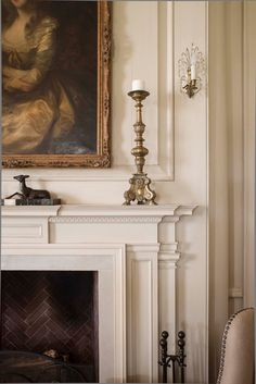 Fireplace detail in the great room - Texas Hill Country Estate Designed by Curtis & Windham Architects