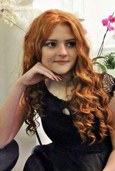 Prom Queen Collection 2016 by Draženka Marelja, Hair salon Capelli, Nova Gradiška, Croatia; hair prom hairstyle for long hair prom updo formal updo hairstyle curls ginger natural hair long hairstyle long hair