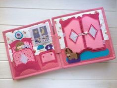 Dollhouse Quiet Book for girls 22x22cm totally handmade