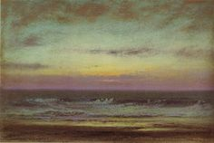 'After Sunset Looking East' by Dwight William Tryon ca. 1915