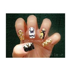 Maleficent Nails ❤ liked on Polyvore featuring beauty products and nail care