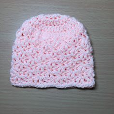 Hooking is a Lifestyle : How To Crochet A Shell Newborn Beanie Tutorial