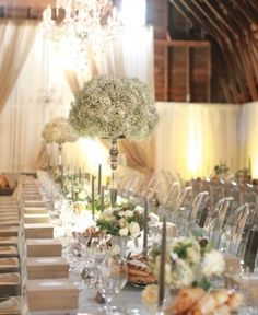 Stylish Baby's Breath Weddings | Weddings Romantique