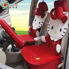 HK |❣| HELLO KITTY Car Seat Cushions