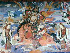 Mural depicting King Gesar of Ling. Gruschke Anonymer tibetischer Maler - Own work/wikipedia Nanjing, Yamaguchi, Lhasa, Taoism, Tibetan Buddhism, Asian History, Weird Stories, 12th Century, Archaeology