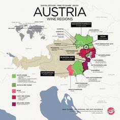 #Maps #Austria #Wine regions by Winefolly.com