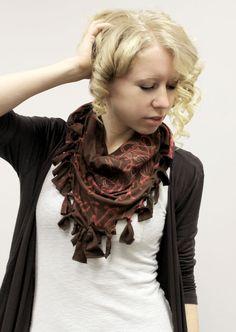 ... no sew scarf! | DIY Fashion/Jewelry | Pinterest | Scarfs, No Sew and