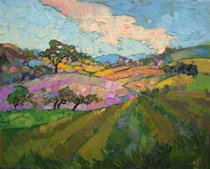 California wine country, Paso Robles oil painting landscape by Erin Hanson