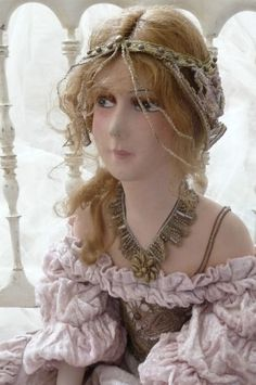 RARE Antique French Boudoir Dollc 1920 Edwardian Lovely Fashion Doll | eBay   Really love this sweet one!