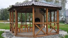 11 The Sitting Area is Extraordinary in the Backyard that makes your eyes amazed at the design Gazebo Plans, Patio Gazebo, Pergola, Outdoor Furniture Plans, Woodworking Furniture Plans, Backyard Sitting Areas, Hot Tub Cover, Wooden Garden Planters, Garden Pool