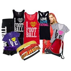 Football fans? Enjoy these fun and cute t-shirts from activewear apparel!