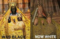 "The ""Black Madonna"" really does have a fascinating hstory behind her. There are a couple a great books about her and a couple of well researched online works as well. Black History Facts, Black Pride, African Diaspora, My Black Is Beautiful, Moorish, African American History, World History, Black People, Madonna"