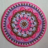 Crochet Mandala Wheel made by Elisabeth, Germany, for yarndale.co.uk