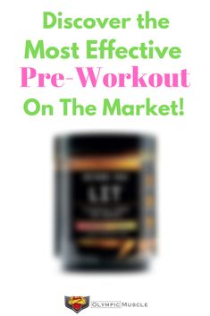 Discover the best pre workout supplement on the market. Great for both men and women! via @Olympic_Muscle