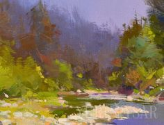 Oil Painting - Landscape Painting - Nature Painting by Yuri Pysar
