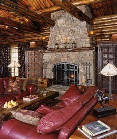 Field Stone Fireplace christmas fireplace pictures | see more rustic log home fireplaces