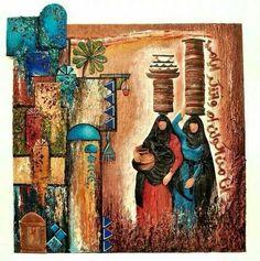 I think they are selling yogurt Oil Painting Abstract, Abstract Art, Arabian Art, Ceramic Wall Art, Islamic Art Calligraphy, Sewing Art, Sand Art, Egyptian Art, Oriental