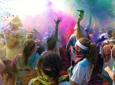 colors @thecolorrun...i WILL be doing this race next year in Austin. It's going to be EPIC! who is in?
