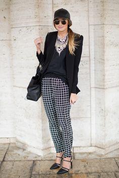 New York fashion week, black and white check #vsmyfalledit