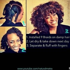 Braid out pictorial - Sumetra Reed. looks so good on her! Natural Hair Tips, Natural Hair Inspiration, Natural Hair Journey, Natural Hair Styles, Going Natural, Braid Out Natural Hair, Natural Girls, Braided Hair, Damp Hair Styles