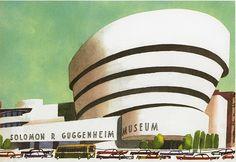 illustration from This Is New York by Miroslav Sasek (1961)