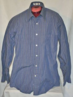 Christian Dior Chemise Dress Shirt Sz 16 32/33 Long Sleeve Striped Casual Shirt #ChristianDior #DressShirt #designer