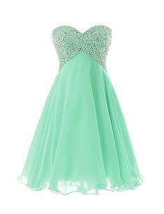 Women's Sweety Girls Cocktail Homecoming Gowns Prom Pageant Dress Lace-up Silhouette:A Line Fabric:Chiffon Embellishment:Beadings, Sequins Hemline:Short Ne