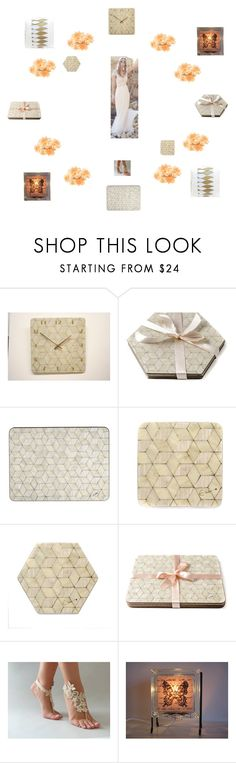 """Ivory placemats coasters pillows glow lamp"" by einder ❤ liked on Polyvore featuring interior, interiors, interior design, home, home decor, interior decorating, Dessous, wedding, butterfly and ivory"