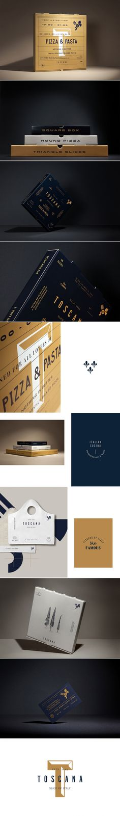 Toscana is a Tasteful and Sophisticated Take on Pizza Packaging — The Dieline | Packaging & Branding Design & Innovation News