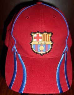 1f75c6a85e5 FC  Barcelona  FCB  Barca Red Hat Cap  Spain  Espana  Soccer