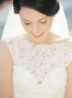 Such a beautiful bride portrait shot. See more of her wedding today on SMP:  http://www.StyleMePretty.com/2014/01/27/rustic-rancho-las-lomas-wedding/  Elan Klein Photography