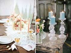 8 New Wedding Trends / colored candles