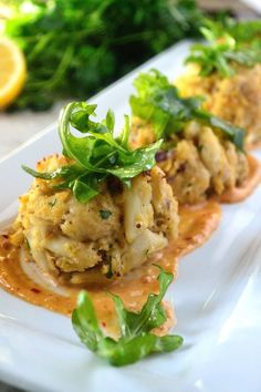 Crab Cakes with Spicy Creole Mustard Aioli Quite possibly the BEST Crab Cakes you've ever tasted! This is the recipe to try! Not to mention the Spicy Creole Mustard Aioli that takes these Crab Cakes over the top! Crab Recipes, Appetizer Recipes, Shellfish Recipes, Seafood Dishes, Fish And Seafood, Crab Dishes, Seafood Meals, Seafood Platter, Recipes