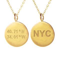 NYC Coordinates Necklace