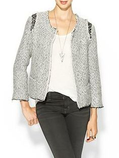 MM Couture Embellished Tweed Jacket | Piperlime