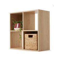 4 Cube Unit Oak Look   Kmart