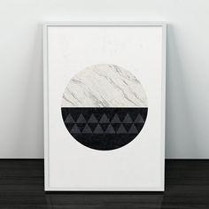 Design for table numers | Minimalist print, Marble print, Geometric art, Circle print, Black and white, Home art, Modern art, Minimal art, Nordic style, Marble decor