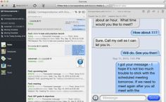 Using Evernote and Gmail to save information