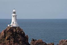 Corbier Lighthouse, Jersey, Channel Islands
