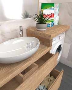 Small Apartment Design, Bathroom Design Small, Bathroom Interior Design, Rental Bathroom, Laundry In Bathroom, Brown Bathroom Decor, Bathroom Styling, Casa Milano, Bathroom Showrooms