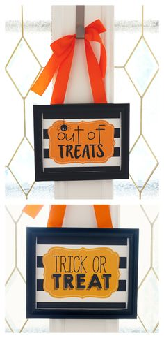 Free Halloween Printables - Out of Treats and Trick or Treat Fun Halloween Treats, Halloween Activities For Kids, Scary Halloween Decorations, Halloween Projects, Diy Halloween Decorations, Holidays Halloween, Easy Halloween, Haunted Halloween, Spooky Decor