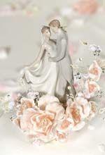 Vintage First Kiss Wedding Cake Topper