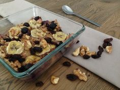 Blueberry banana havermout uit de oven - I Love Health