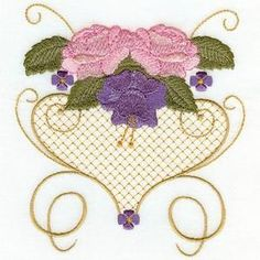 Embroidered Victorian Florals