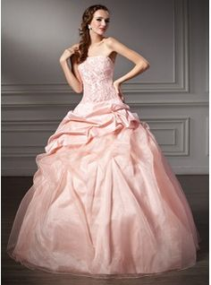 Special Occasion Dresses - $210.99 - Ball-Gown Strapless Floor-Length Taffeta Organza Quinceanera Dress With Ruffle Lace Beading  http://www.dressfirst.com/Ball-Gown-Strapless-Floor-Length-Taffeta-Organza-Quinceanera-Dress-With-Ruffle-Lace-Beading-021003109-g3109